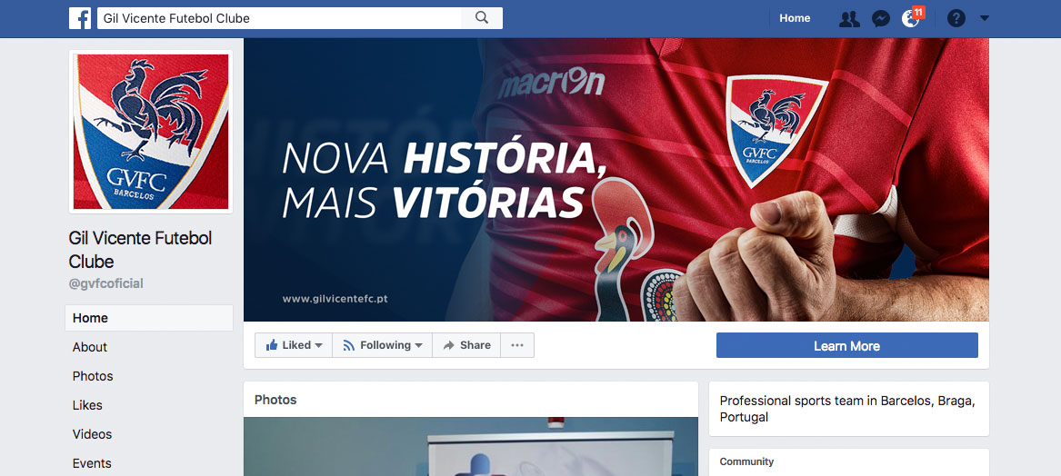Facebook Cover Gil Vicente Futebol Clube by Branditnext