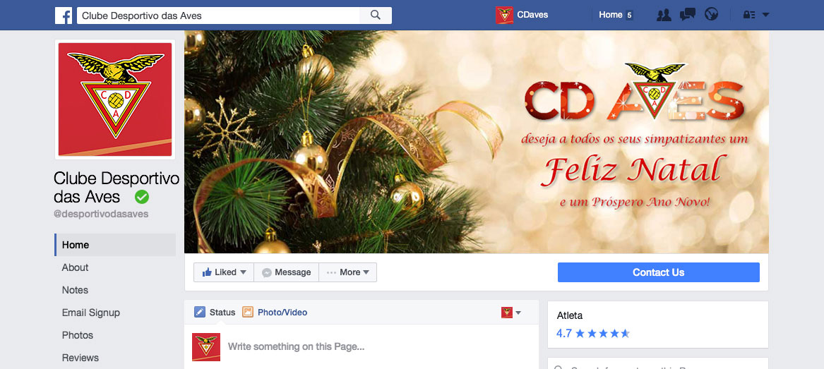 Facebook Cover Clube Desportivo das Aves by Branditnext