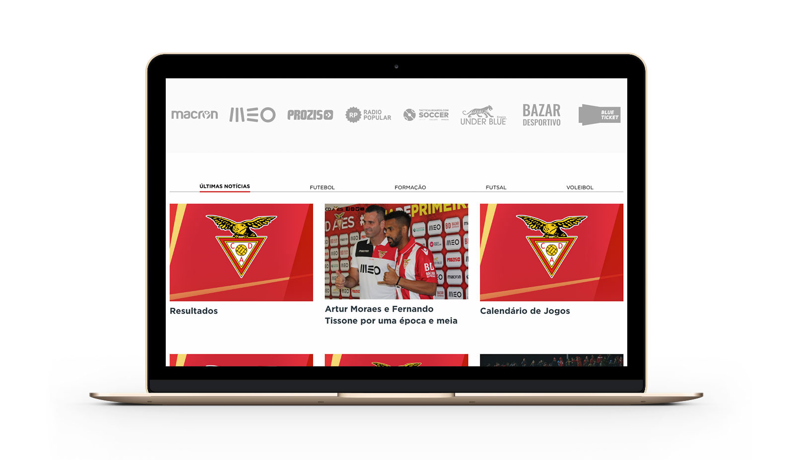 Official Website Clube Desportivo das Aves by Branditnext