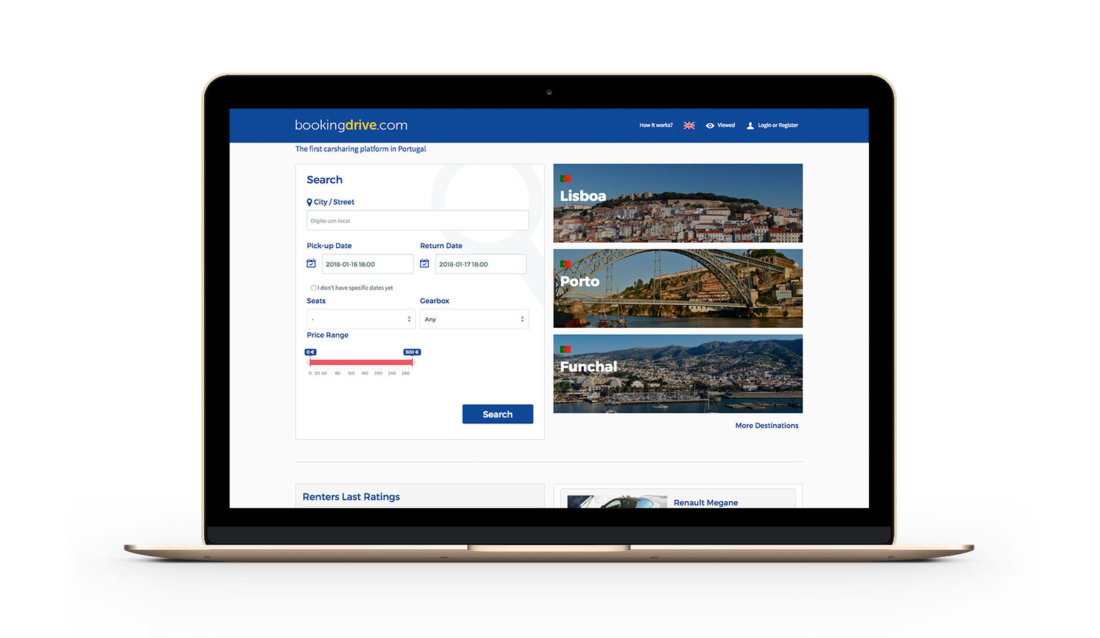 Website Bookingdrive by Branditnext