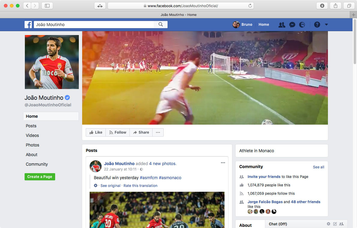 Polaris Sports, João Moutinho Facebook Cover by branditnext