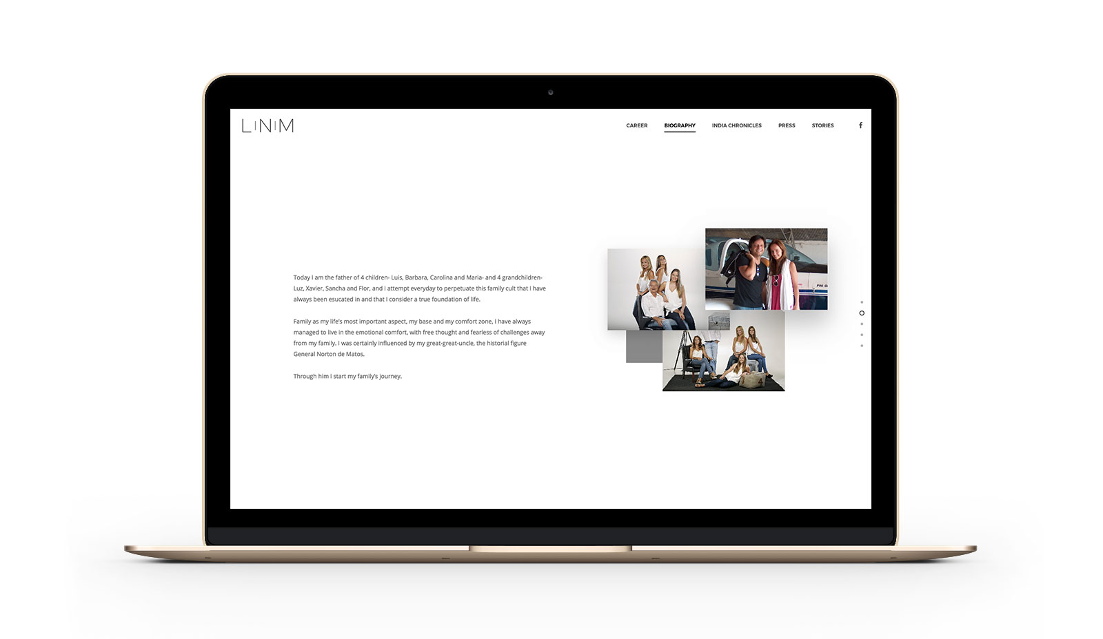 Luis norton de Matos website by Branditnext