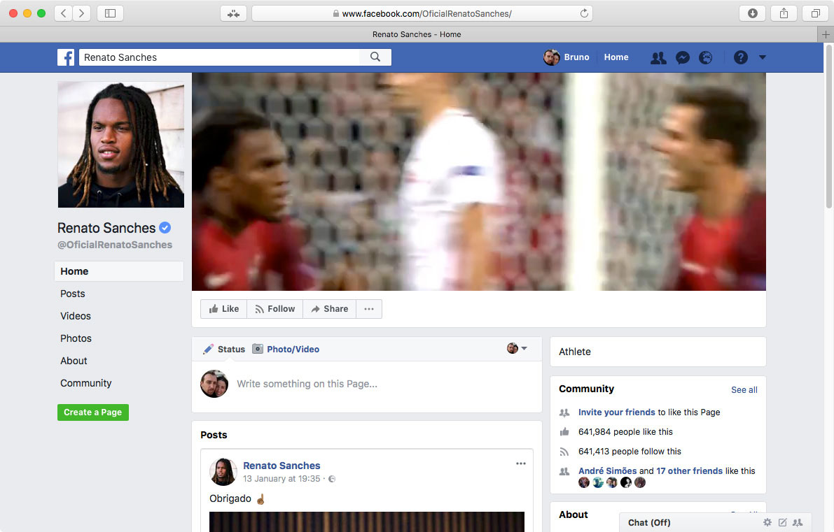 Polaris Sports, Renato Sanches Facebook Cover by branditnext