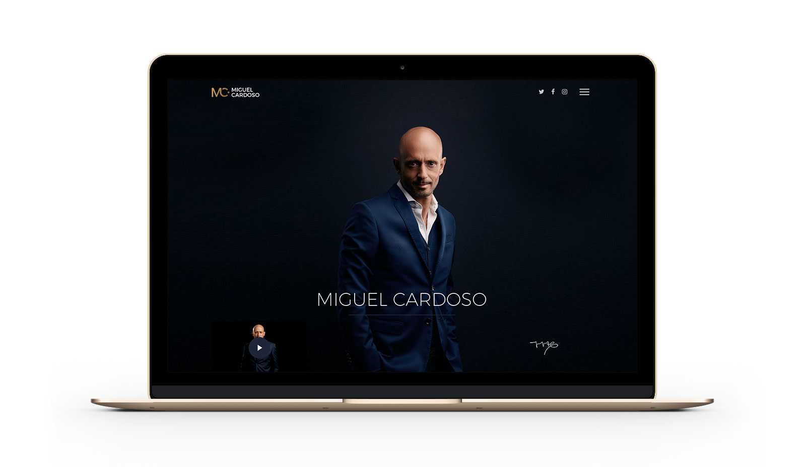 Miguel Cardoso Website - by branditnext
