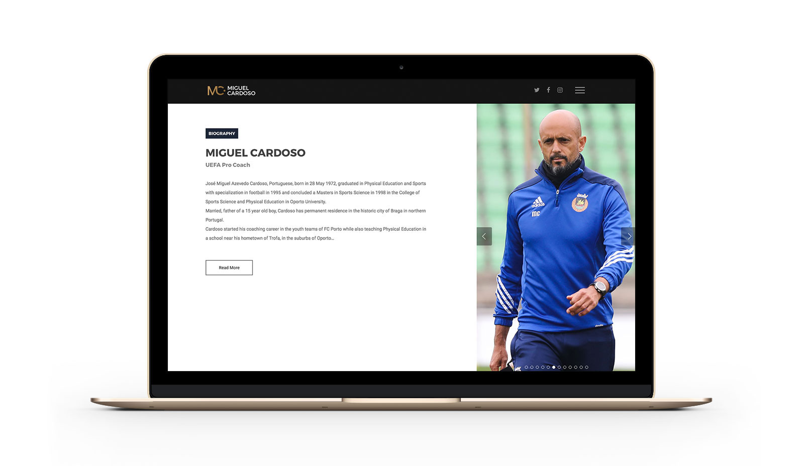Miguel Cardoso Website by branditnext